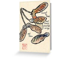 Trees In Flight Greeting Card