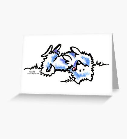 Samoyed Eskie Roll Over Greeting Card