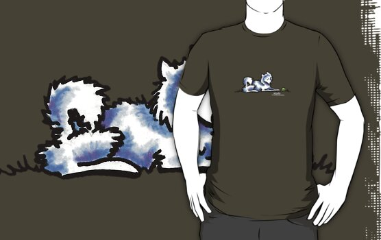 American Eskimo Dog Time Out by offleashart