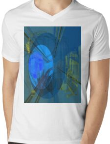 Candy Town Blue Mens V-Neck T-Shirt