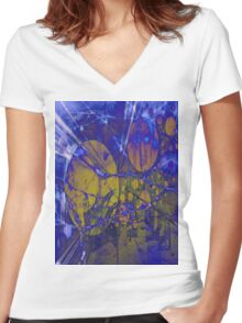 Candy Town Decay Women's Fitted V-Neck T-Shirt