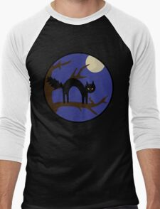 Black kitty in a tree Men's Baseball ¾ T-Shirt