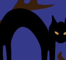 Black kitty in a tree Sticker