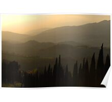 Evening Shades Tuscany Italy Poster