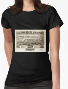Panoramic Maps Strasburg Lancaster Co Pa 1903 Womens Fitted T-Shirt