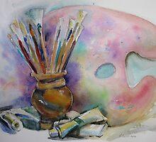 Artists tools by Karin Zeller