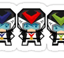 Mekkachibi Voltes Crew (Black Uniform) Sticker