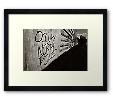 Occupy North Pole Framed Print