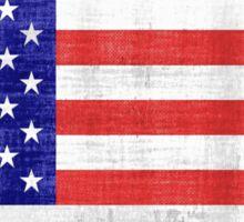Vintage American Flag Cube Sticker