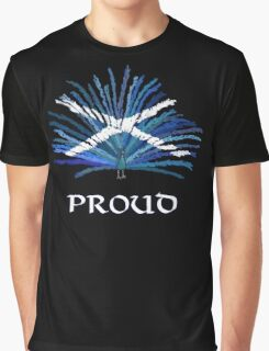 Saltire Peacock Graphic T-Shirt