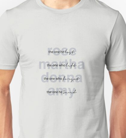 Dr. Who Companions Unisex T-Shirt