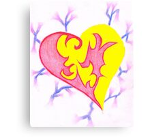 Two Parts One Heart Canvas Print
