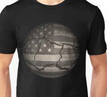 Vintage American Flag Cracked Global Unisex T-Shirt