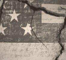 Vintage American Flag Cracked Global Sticker
