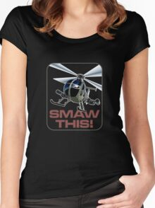 SMAW this Women's Fitted Scoop T-Shirt