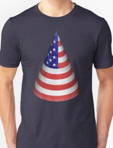 Vintage American Flag Cone Unisex T-Shirt