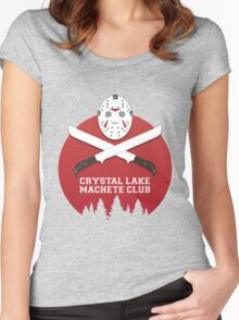 Crystal Lake Machete Club Women's Fitted Scoop T-Shirt