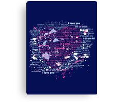 Multi-lingual Message of Love Canvas Print