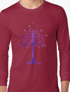 LOTR // TREE OF GONDOR // MINIMALIST POSTER Long Sleeve T-Shirt
