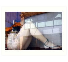 Reflecting on Chinatown, Vancouver, B.C. Art Print