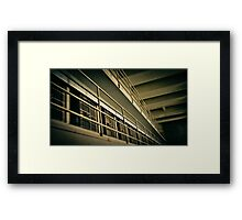 Alkatraz Lock Up room Framed Print