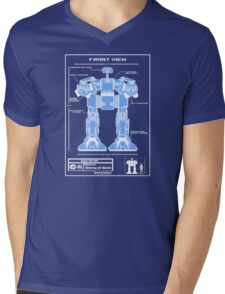 WALL-ED-209 Blueprint Mens V-Neck T-Shirt
