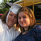 My daughter and her cousin - graduation joy by Jane Neill-Hancock
