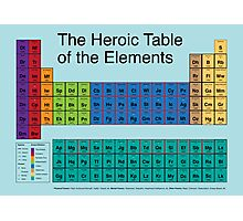 Heroic Table of Elements Photographic Print