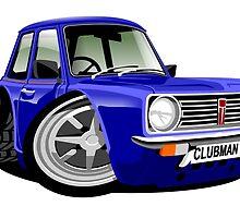 Mini Clubman caricature blue by car2oonz