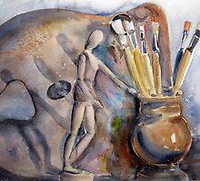Artists still life by Karin Zeller