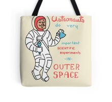 Scientific Astronauts - funny cartoon drawing with handwritten text Tote Bag
