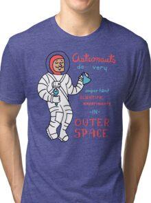 Scientific Astronauts - funny cartoon drawing with handwritten text Tri-blend T-Shirt