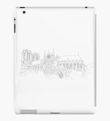 Notre Dame Cathedral - urban sketch iPad Case/Skin