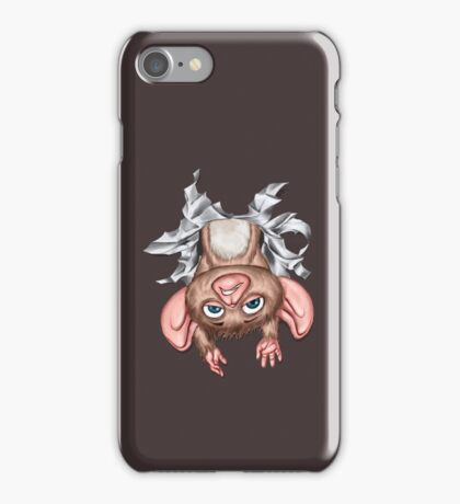 Cute Cartoon Character busting out of phone iPhone Case/Skin