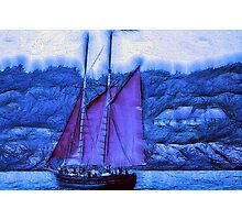 BLUE WIND Photographic Print