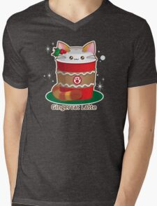 Purrista Pawfee: Cute Christmas Coffee Cat Mens V-Neck T-Shirt