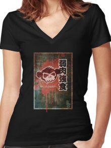 The weak are meat Women's Fitted V-Neck T-Shirt
