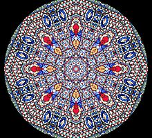 Kaleidoscope Stained Glass Pattern by Gillian Cross