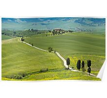 The Path from Pienza Poster