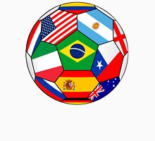 soccer with various flags - Brazil 2014 T-Shirt