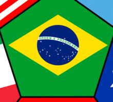 soccer with various flags - Brazil 2014 Sticker