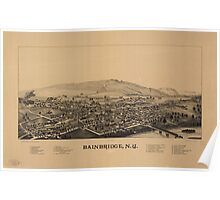 Panoramic Maps Bainbridge NY Poster