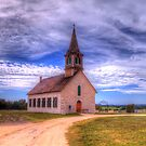 The Old Norse Church of Bosque County, Texas by Terence Russell