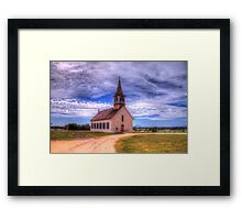 The Old Norse Church of Bosque County, Texas Framed Print