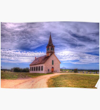 The Old Norse Church of Bosque County, Texas Poster