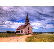 The Old Norse Church of Bosque County, Texas Photographic Print
