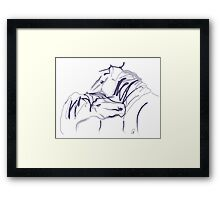 Horses together 10 Framed Print