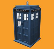 blue british police phone call box by nadil
