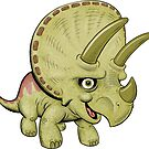 Triceratops Yellow by Dave Stephens