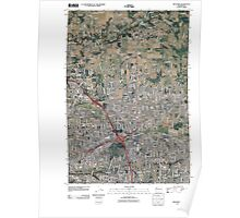 USGS Topo Map Washington State WA Orchards 20110404 TM Poster